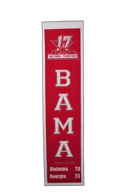 Alabama Crimson Tide 2017 NCAA Champions Football Heritage Banner