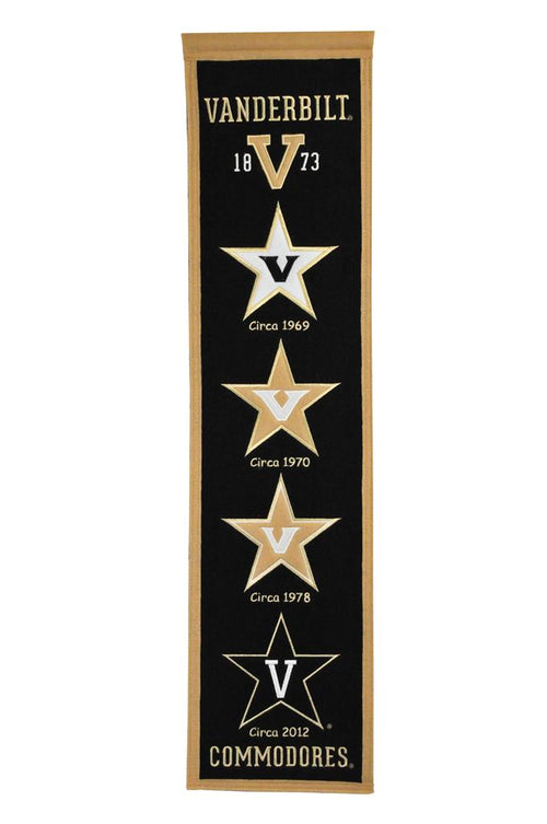 Vanderbilt Commodores NCAA Heritage Banner - Dynasty Sports & Framing