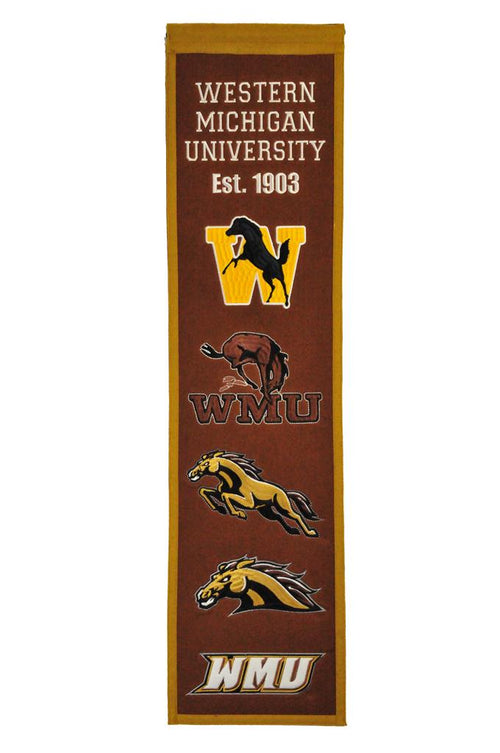 Western Michigan Broncos NCAA Heritage Banner - Dynasty Sports & Framing
