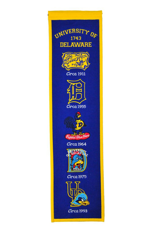 Delaware Fightin' Blue Hens NCAA Heritage Banner - Dynasty Sports & Framing