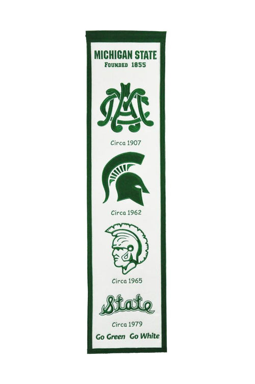Michigan State Spartans NCAA Heritage Banner - Dynasty Sports & Framing