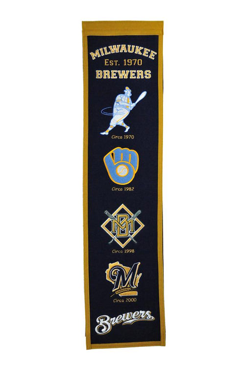 Milwaukee Brewers MLB Baseball Heritage Banner