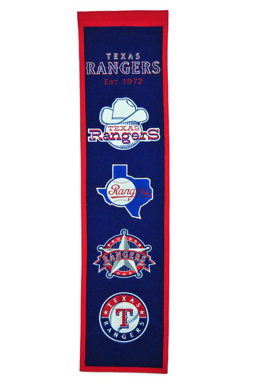 Texas Rangers MLB Baseball Heritage Banner - Dynasty Sports & Framing
