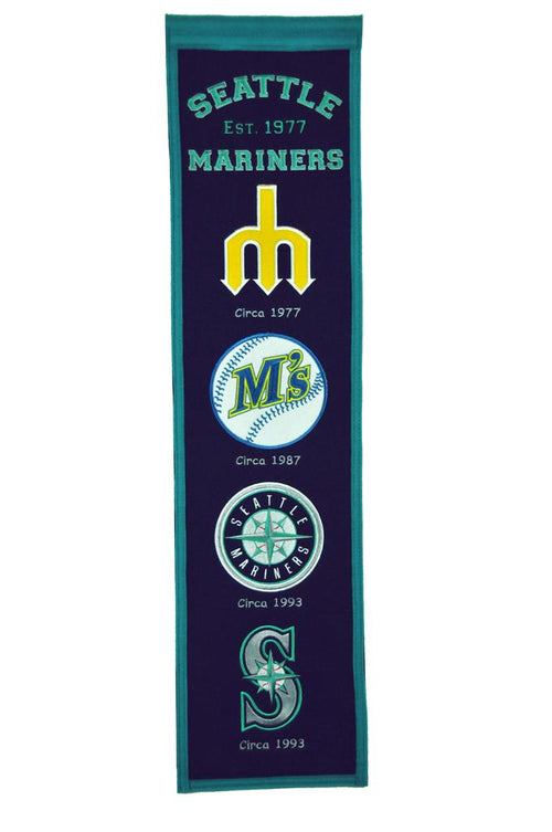 Seattle Mariners MLB Baseball Heritage Banner - Dynasty Sports & Framing