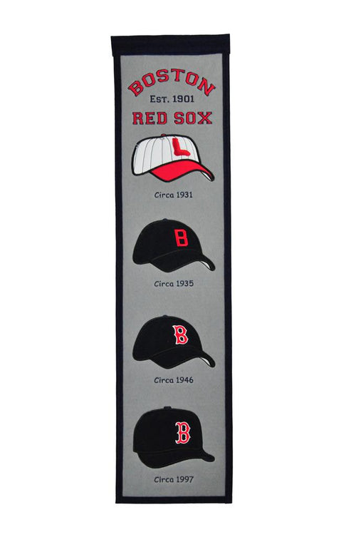 Boston Red Sox Caps MLB Baseball Heritage Banner