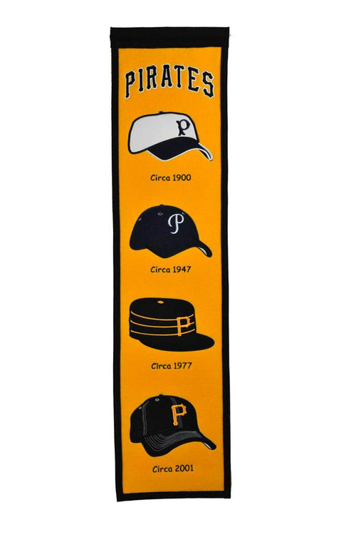 Pittsburgh Pirates Caps MLB Baseball Heritage Banner - Dynasty Sports & Framing