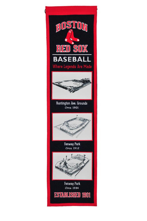 Boston Red Sox Stadiums MLB Baseball Heritage Banner