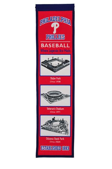 Philadelphia Phillies MLB Stadium Evolution Heritage Banner