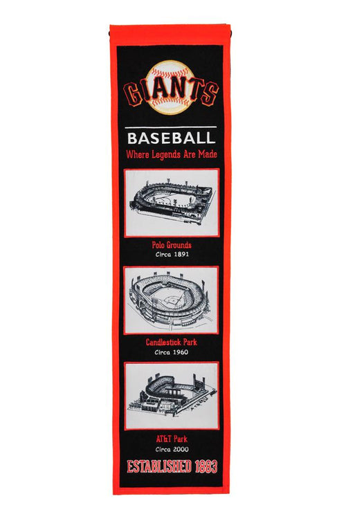 San Francisco Giants Stadiums MLB Baseball Heritage Banner - Dynasty Sports & Framing