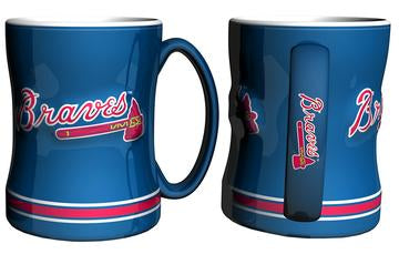 Atlanta Braves MLB Baseball Logo Relief 14 oz. Mug - Dynasty Sports & Framing