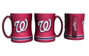 Washington Nationals MLB Baseball Logo Relief 14 oz. Mug - Dynasty Sports & Framing