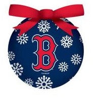 Boston Red Sox Shatterproof Holiday Ball Ornament - Dynasty Sports & Framing