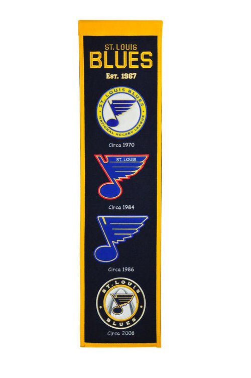 St. Louis Blues NHL Hockey Heritage Banner - Dynasty Sports & Framing