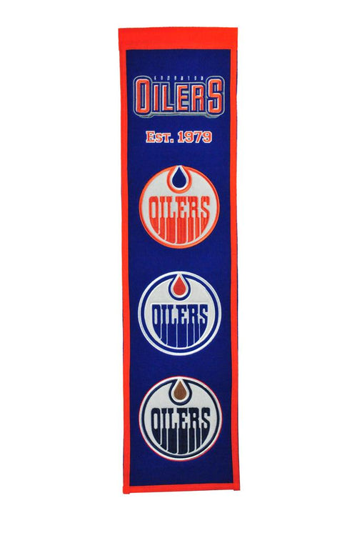 Edmonton Oilers NHL Hockey Heritage Banner - Dynasty Sports & Framing