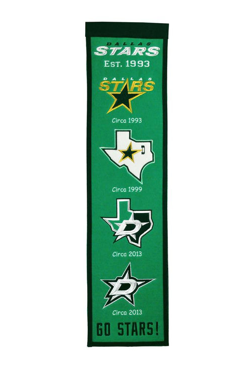 Dallas Stars NHL Hockey Heritage Banner
