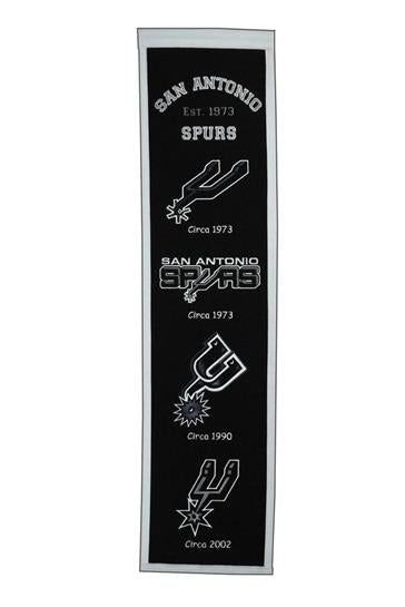San Antonio Spurs NBA Basketball Heritage Banner - Dynasty Sports & Framing