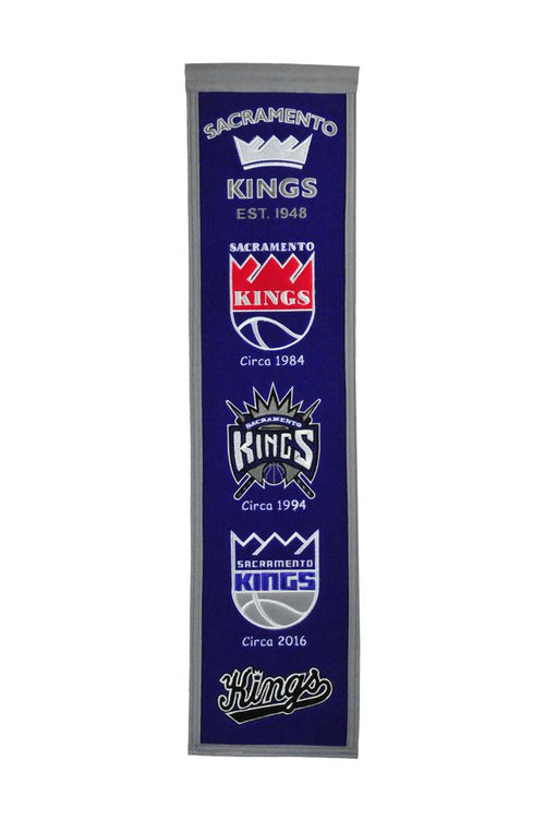 Sacramento Kings NBA Basketball Heritage Banner