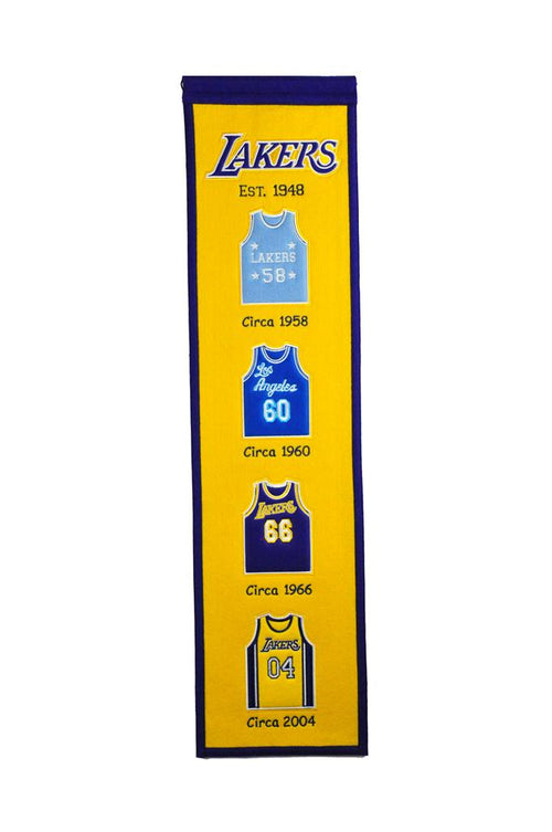Los Angeles Lakers Jersey NBA Basketball Heritage Banner