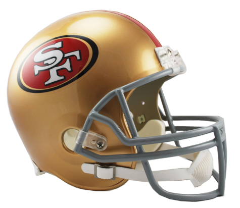 San Francisco 49ers NFL Full-Size Helmet Replica - Dynasty Sports & Framing