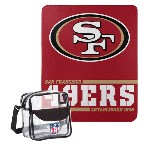 "San Francisco 49ers Dream Team Tote with 50"" x 60"" Fleece Throw Blanket - Dynasty Sports & Framing"