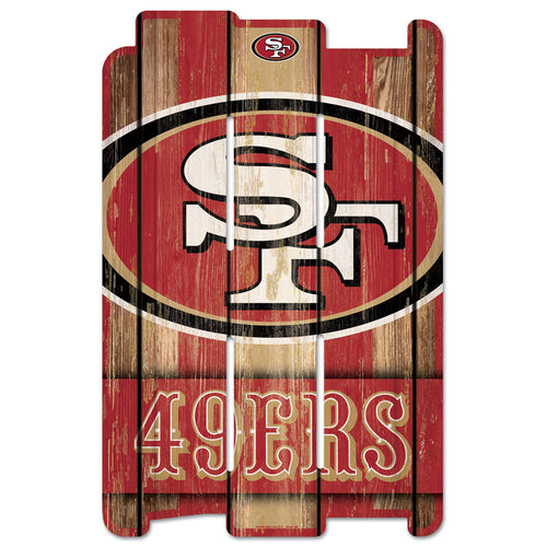 "San Francisco 49ers 11"" x 17"" Football Fence Sign - Dynasty Sports & Framing"