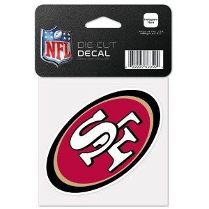 "San Francisco 49ers 4"" x 4"" Decal - Dynasty Sports & Framing"
