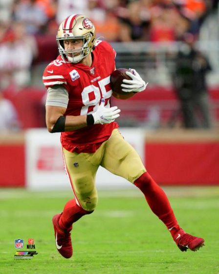 "George Kittle in Action San Francisco 49ers NFL Football 8"" x 10"" Photo - Dynasty Sports & Framing"