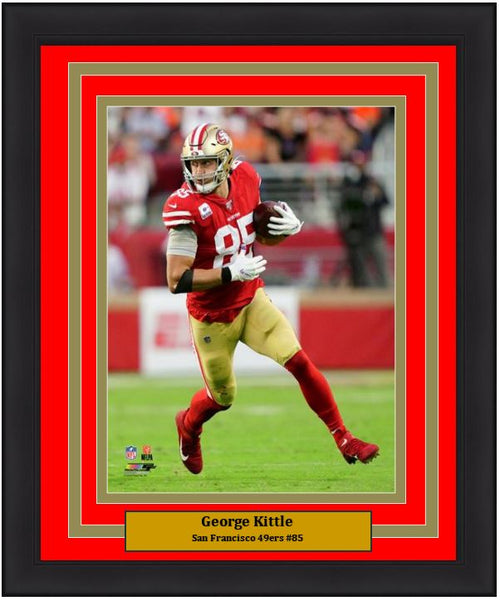 "George Kittle in Action San Francisco 49ers 8"" x 10"" Framed Football Photo - Dynasty Sports & Framing"