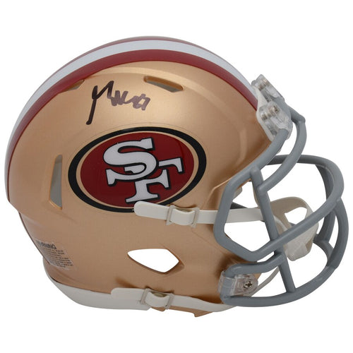 George Kittle San Francisco 49ers Autographed NFL Football Speed Mini-Helmet - Dynasty Sports & Framing