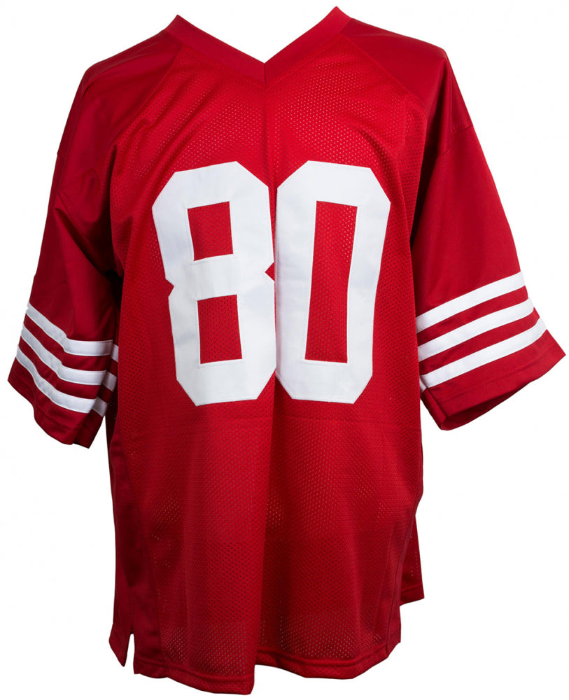 hot sale online 899d0 16e6b Jerry Rice San Francisco 49ers Autographed Football Jersey