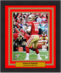 "Jimmy Garoppolo San Francisco 49ers Autographed NFL Football 16"" x 20"" Framed and Matted Photo"