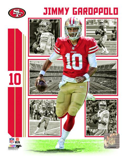 "Jimmy Garoppolo Player Collage San Francisco 49ers NFL Football 8"" x 10"" Photo"