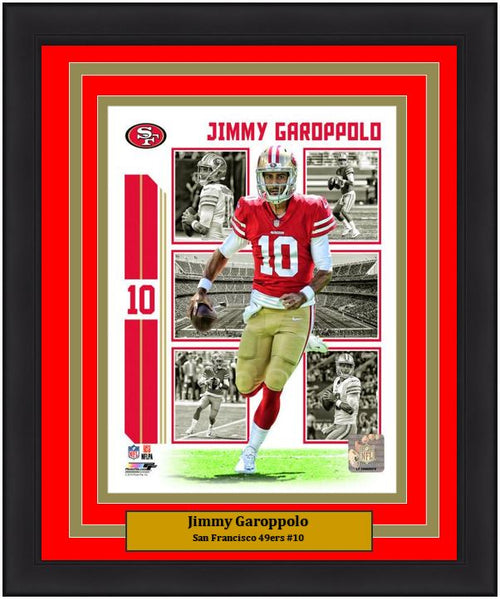 "Jimmy Garoppolo Player Collage San Francisco 49ers NFL Football 8"" x 10"" Framed and Matted Photo"