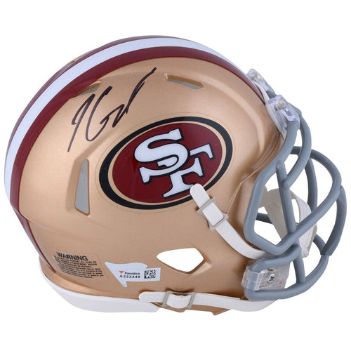 Jimmy Garoppolo San Francisco 49ers Autographed NFL Football Speed Mini-Helmet - Dynasty Sports & Framing