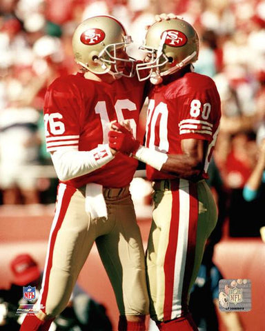 "San Francisco 49ers Joe Montana & Jerry Rice 8"" x 10"" Photo - Dynasty Sports & Framing  - 1"