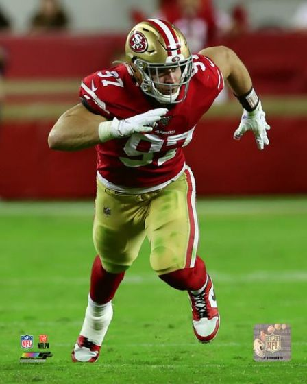 "Nick Bosa in Action San Francisco 49ers NFL Football 8"" x 10"" Photo - Dynasty Sports & Framing"