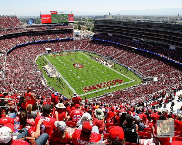 "San Francisco 49ers Levi's Stadium NFL Football 8"" x 10"" Photo"