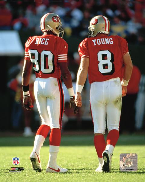 "Jerry Rice & Steve Young San Francisco 49ers 8"" x 10"" Photo - Dynasty Sports & Framing"