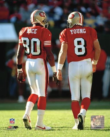 "San Francisco 49ers Steve Young & Jerry Rice 8"" x 10"" Photo - Dynasty Sports & Framing  - 1"