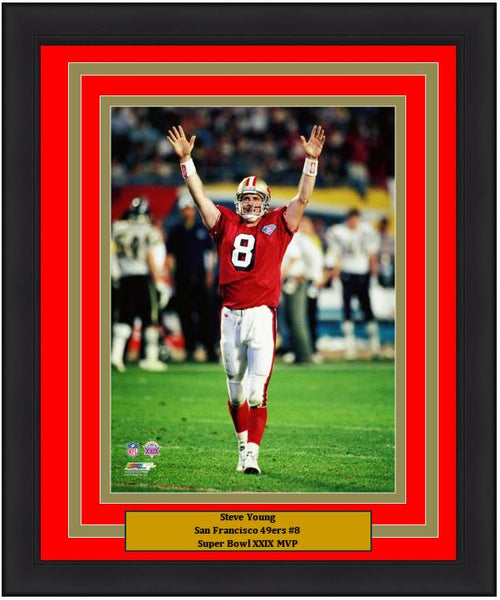 "San Francisco 49ers Steve Young Super Bowl XXIX 8"" x 10"" Framed and Matted Photo"