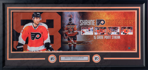 Philadelphia Flyers Shayne Gostisbehere Autographed NHL Hockey Framed and Matted Panorama Photo (Limited Edition to 50 - Dynasty Sports Exclusive)