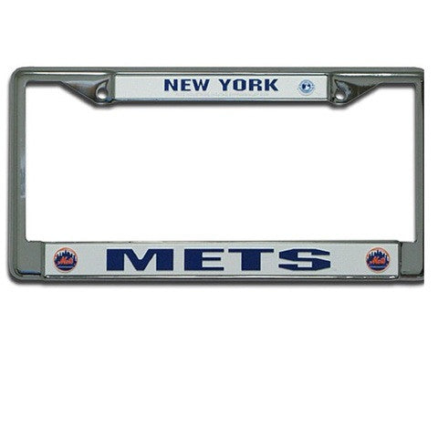 New York Mets MLB Baseball Chrome License Plate Frame - Dynasty Sports & Framing