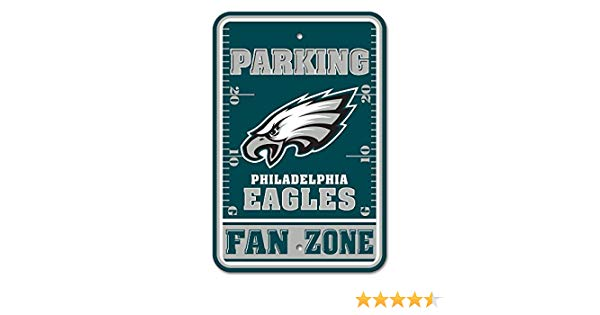 Philadelphia Eagles Fan Zone Parking Sign