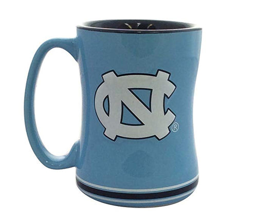 North Carolina Tar Heels NCAA College Logo Relief 14 oz. Mug - Dynasty Sports & Framing