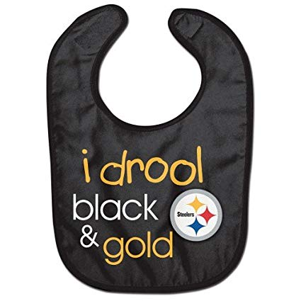 Pittsburgh Steelers Black & Gold NFL Football Baby Bib - Dynasty Sports & Framing
