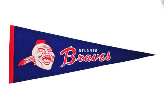 Atlanta Braves MLB Baseball Cooperstown Pennant