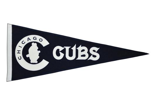 Chicago Cubs MLB Baseball Cooperstown Pennant