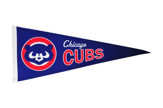 Chicago Cubs #2 MLB Baseball Cooperstown Pennant