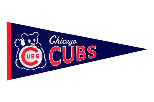 Chicago Cubs #3 MLB Baseball Cooperstown Pennant