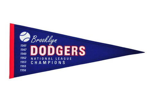 Brooklyn Dodgers MLB Baseball Cooperstown Pennant